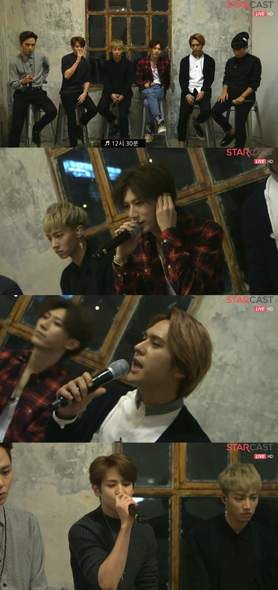 BEAST gives a live preview of their  upcoming track 12:30