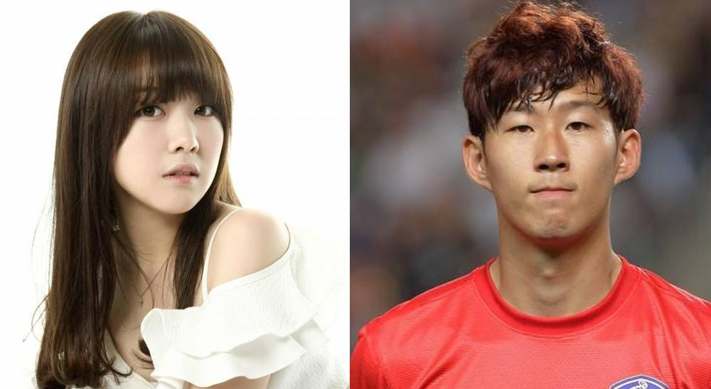 Girl's Day Minah and Son Heung Min