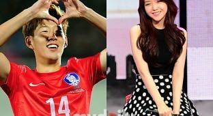 Girl's Day's Minah and Son Heungmin