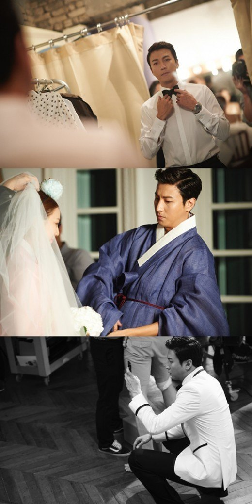 "Photo: Actor Park Gunhyung's wedding photos from ""Namoo Actors"""