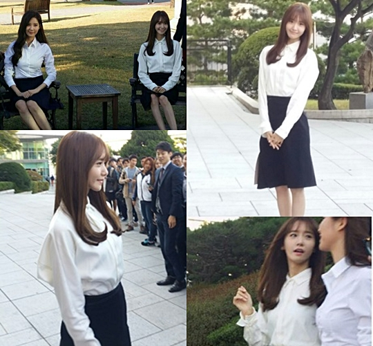 Yoona and Seohyun graduation pictures