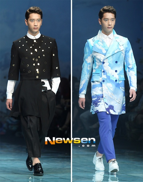 "2PM's Chansung at ""2014 S/S Seoul Fashion Week"""