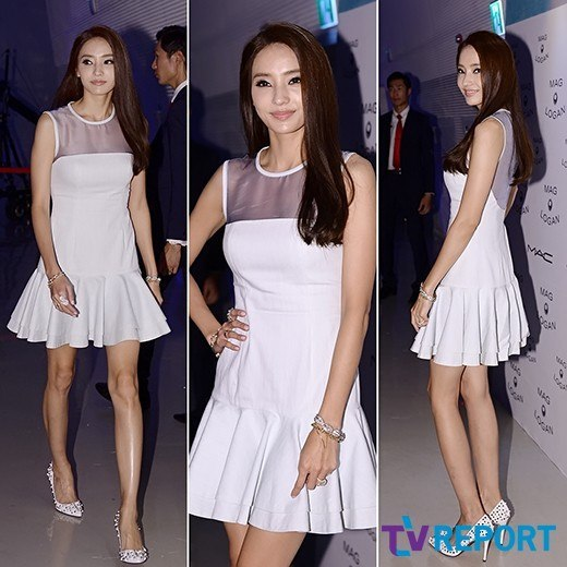 "Han Chae Young at ""2014 S/S Seoul Fashion Week"""