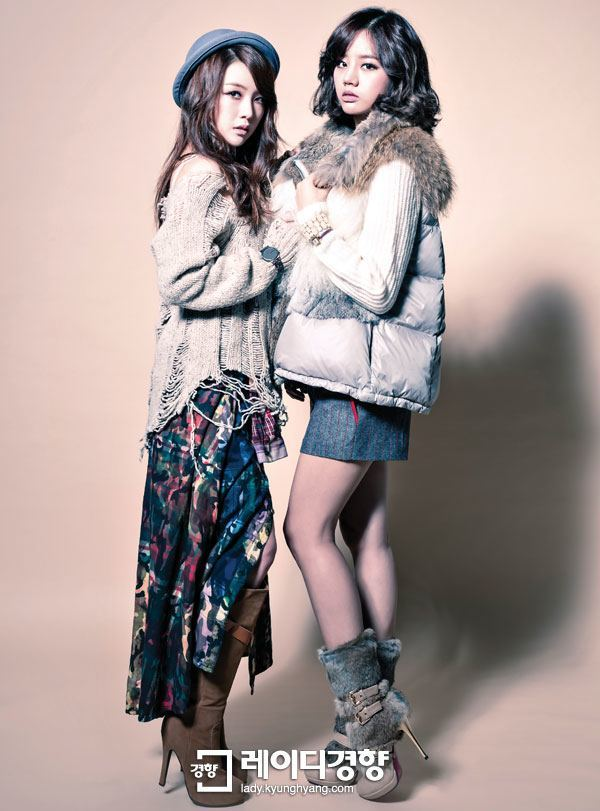 "Photo of ""Vintage Bohemian,"" simple yet stylish casual outfits worn by Girl's Day Minah and Hyeri."