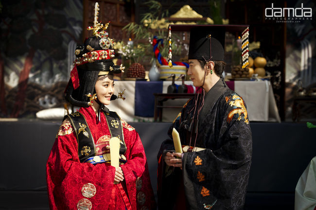 Photo of Chae Rim ♥ Gao Zi Qi wedding ceremony in Korea.