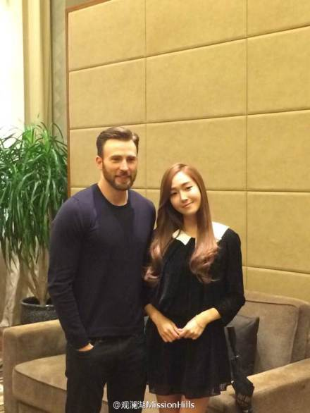 jessica jung with chris evans