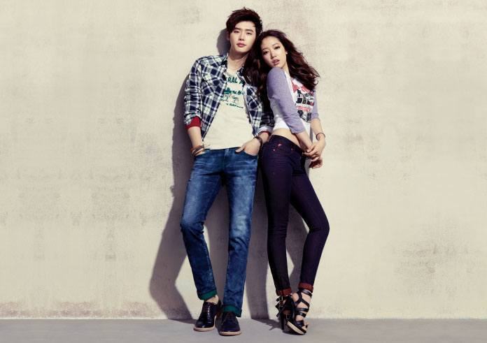 Park Shin Hye, Lee Jong Suk model for jambangee 2013 Spring