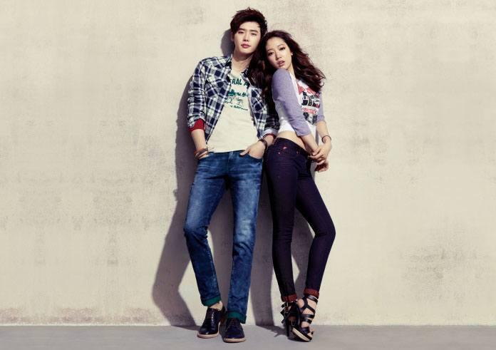 Park Shin Hye, Lee Jong Suk model for jambangee 2013 Spring