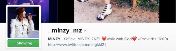 Minzy Instagram
