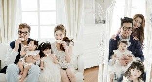 Kim Tae Woo and family