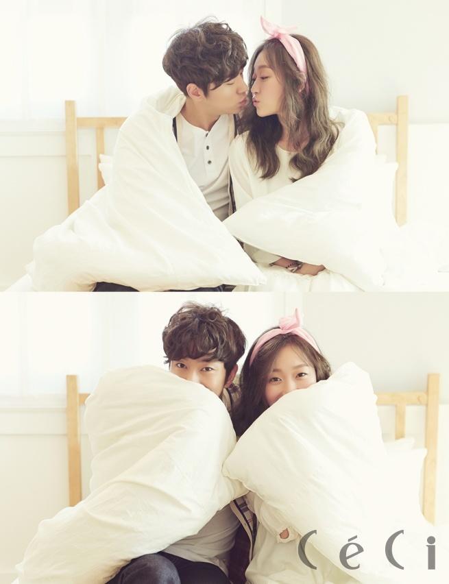 Kim Seul Gi and Yoon Hyun Min for Ceci