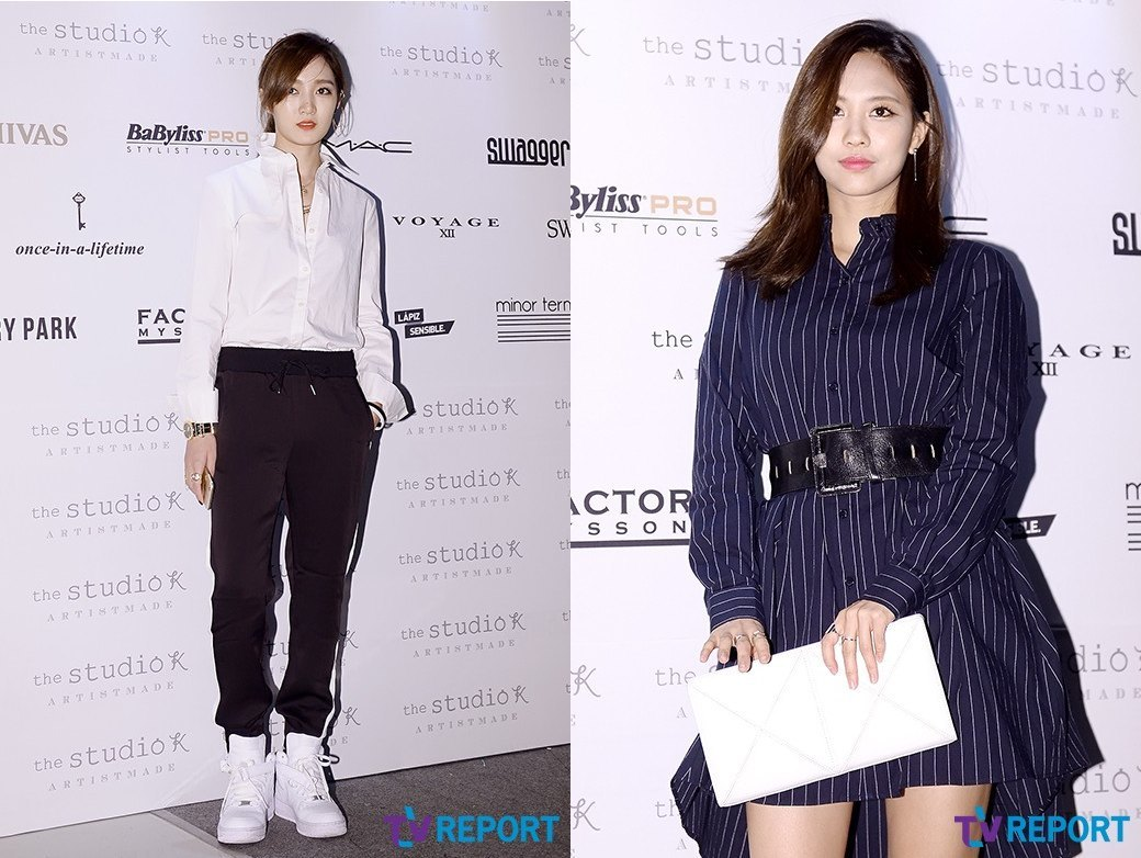 "miss A's Jia, Fei at ""2014 S/S Seoul Fashion Week"""