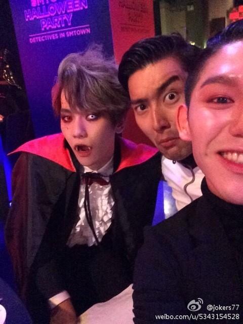 Baekhyun, Siwon at SM Halloween Party 2014