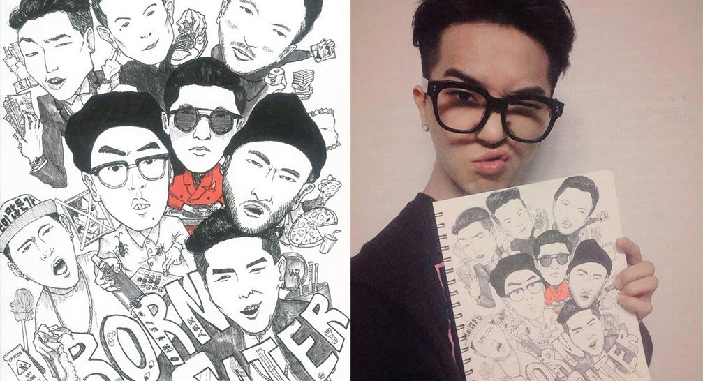 Born Hater drawing by WINNER's Mino