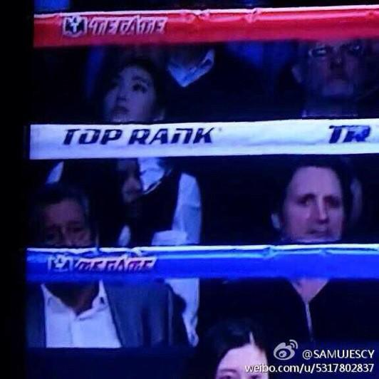Jesisca Jung spotted at boxing match: Pacquiao vs. Algieri