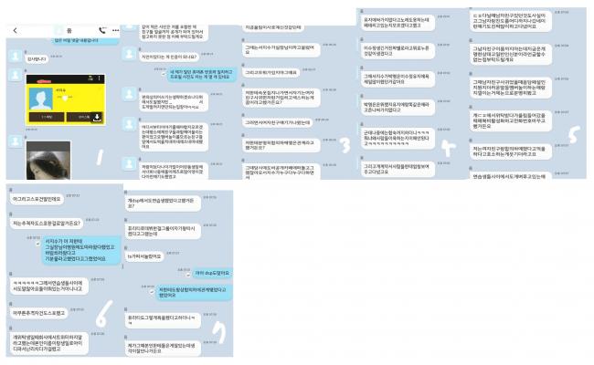 Daum Cafe Screenshot of KakaoTalk Logs (Translated Below) — Attachment #35