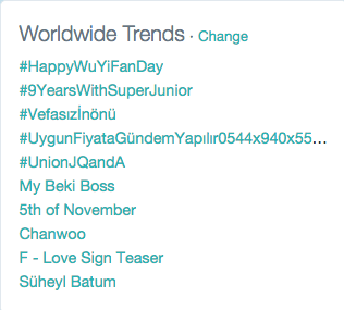 #9YearsWithSuperJunior trending worldwide