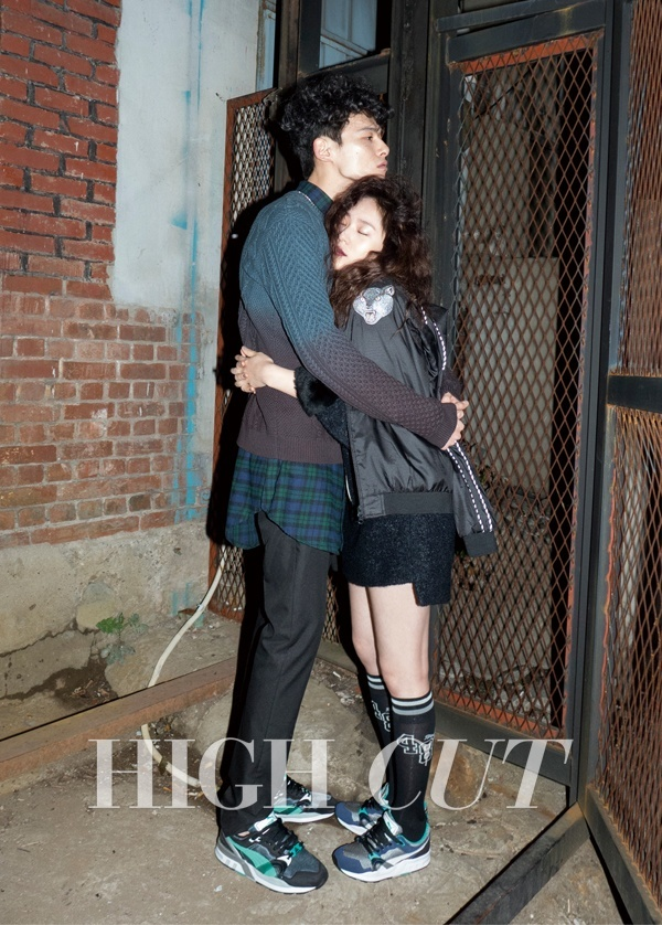 Krystal & Kim Won Joong for High Cut Dec 2014
