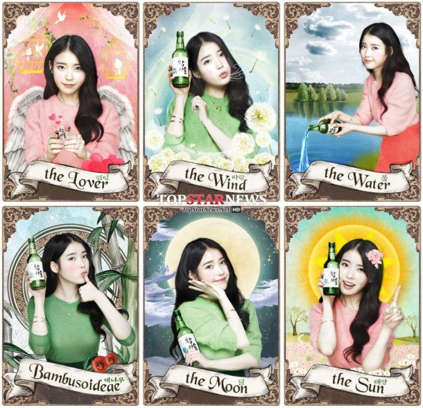 IU transforms as Chamisul's Tarot Goddess
