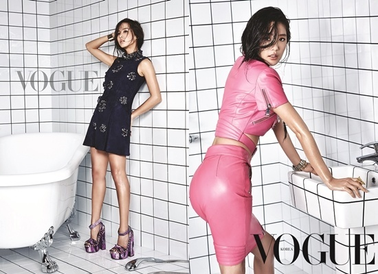 Jo Yeo Jung and Clara from VOGUE Korea December 2014