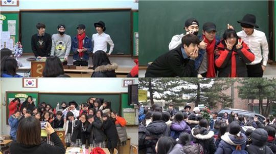 K-MUCH visiting middle school to see fans