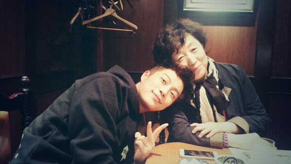 Doojoon with his mom