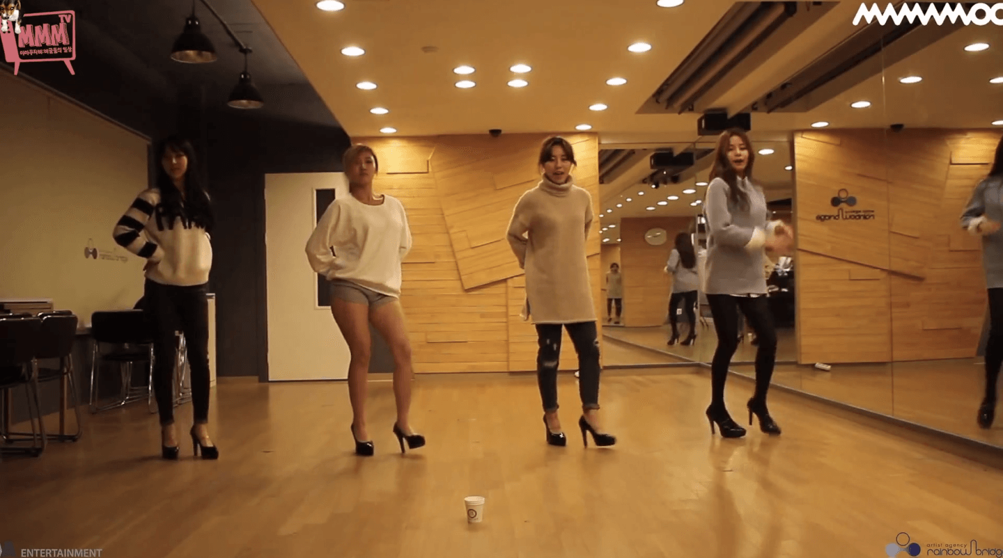 Mamamoo And Girl S Day Practice Room