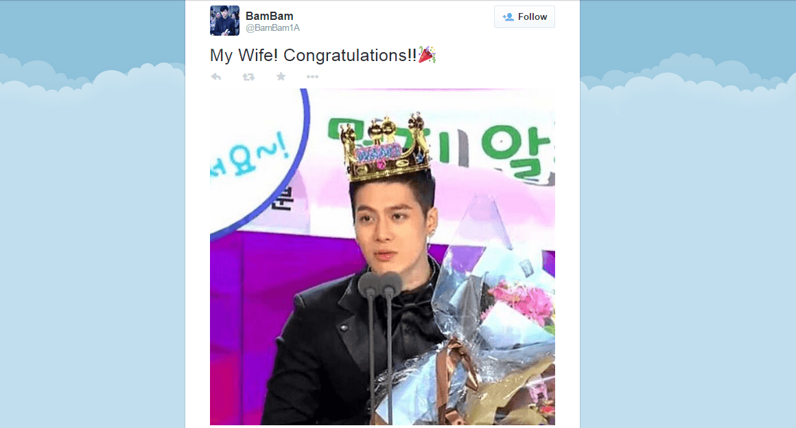 JYP Entertainment artists congratulate Jackson on his ...