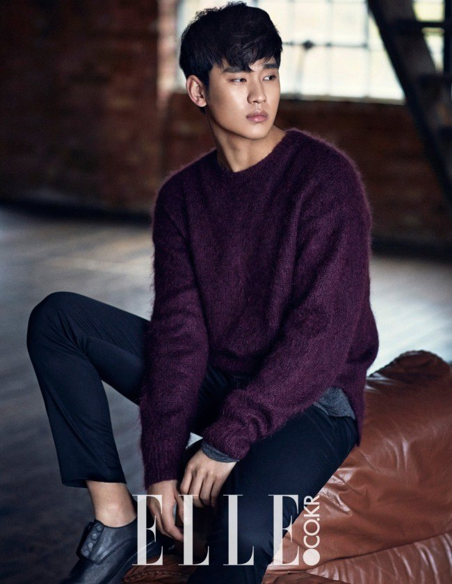 Kim Soo Hyun for Elle Jan 2015