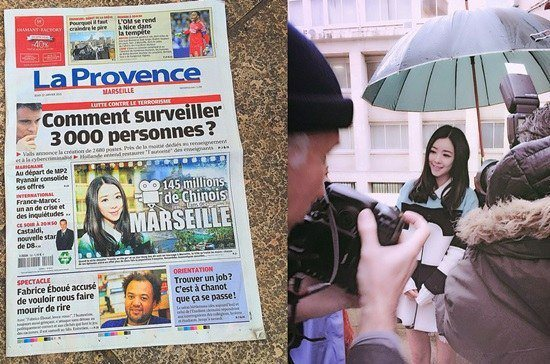 "Hong Sua on the front page of ""La Provence"""