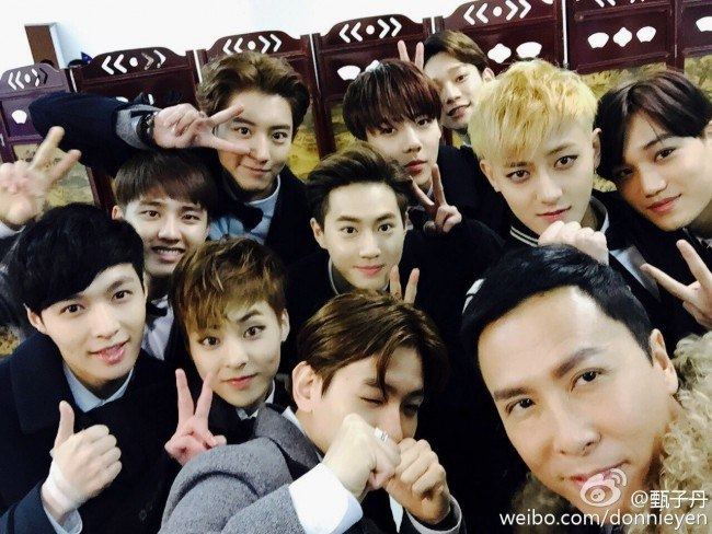 EXO, Donnie Yen at 2014 Youku Night