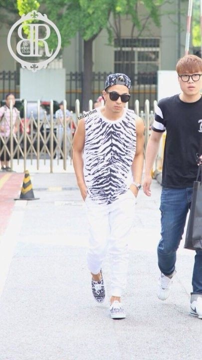 Taeyang's alleged matching running shoes