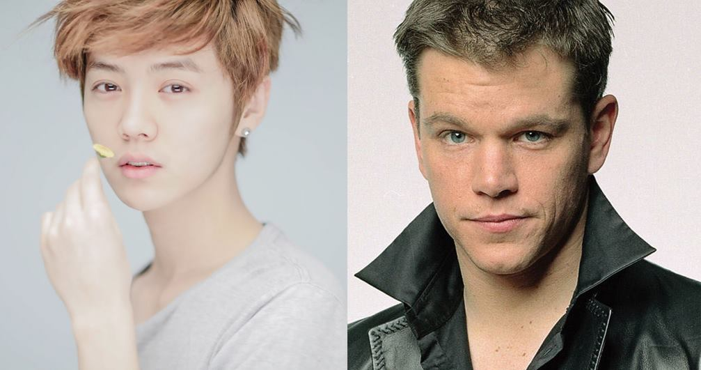 Luhan and matt damon