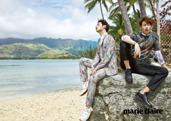 Lee Soo Hyuk Kim Young Kwang Marie Claire April 2015