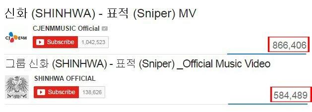 """Shinhwa """"Sniper"""" 1,000,000"""