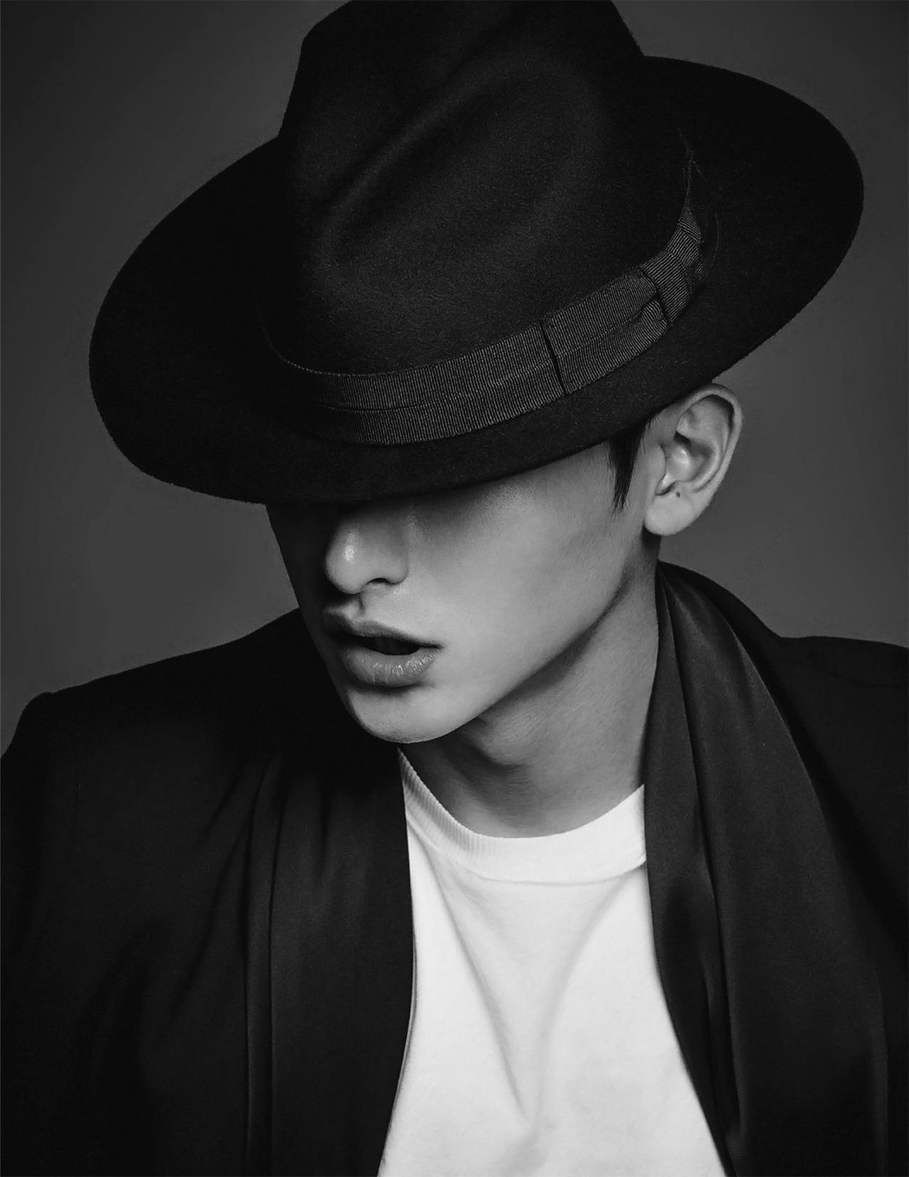 lee soo hyuk is classy in black and white for elle magazine