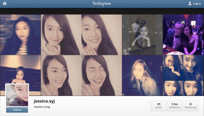 jessica jung unfollowing spree instagram