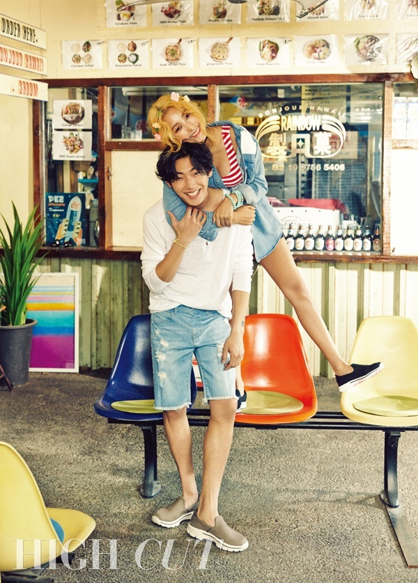 SISTAR's Bora and Song Min Ho for High Cut