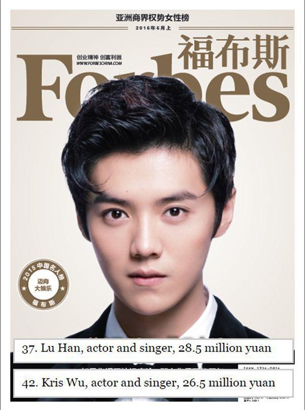 "Luhan ""Forbes China"""