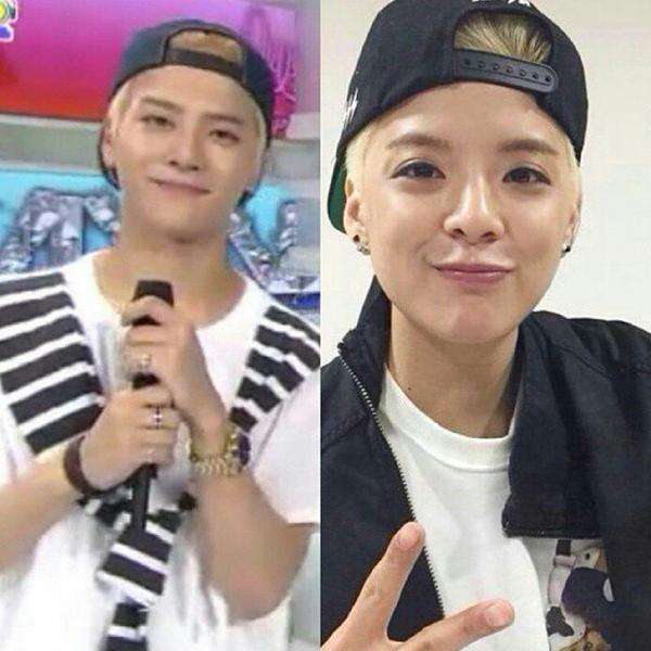Jackson vs. Amber cr. Inkigayo, Instagram post