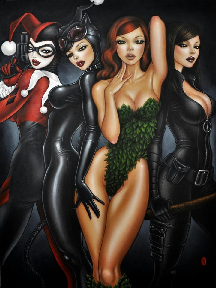 Image: Bad Girls of Batman by Mimi Yoon