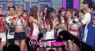 AOA win on Music Core - July 4th - TV Report