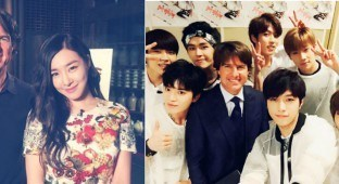 INFINITE and Tiffany with Tom Cruise