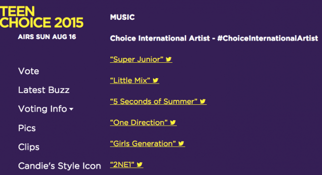 teen choice international