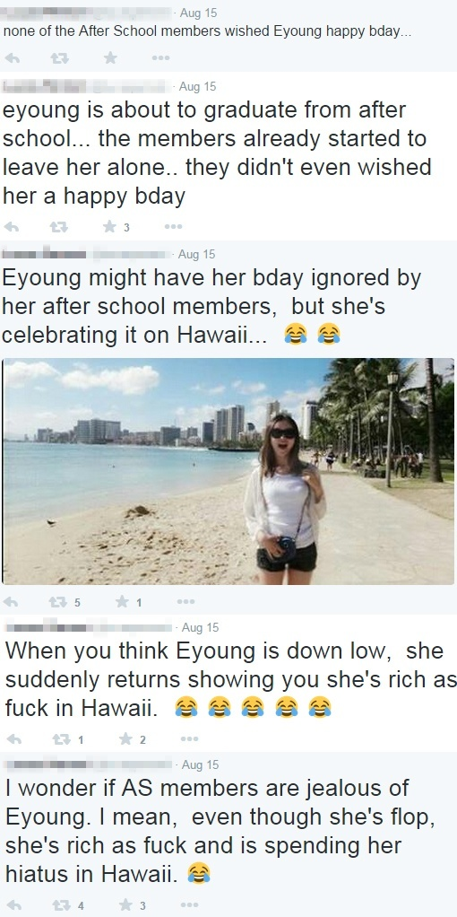 Fan about E-young and After School