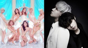 "Girls' Generation's ""Lion Heart"" MV (left) / Jellyfish Entertainment (right)"