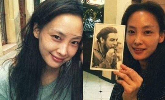 lee na young bareface