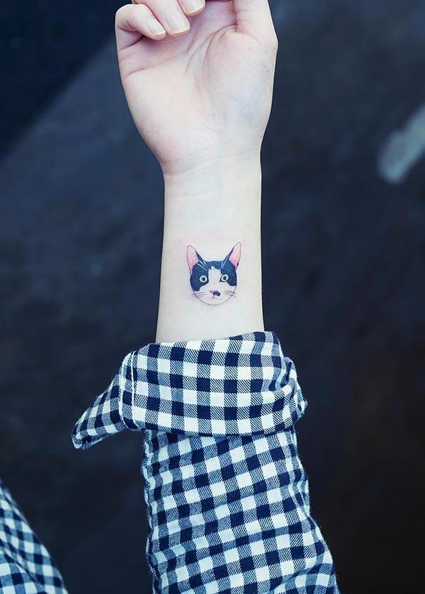 Illegal Cat Tattoo