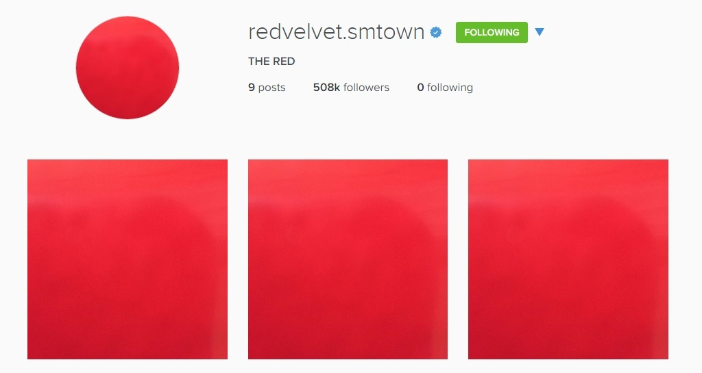 Red Velvet's Instagram