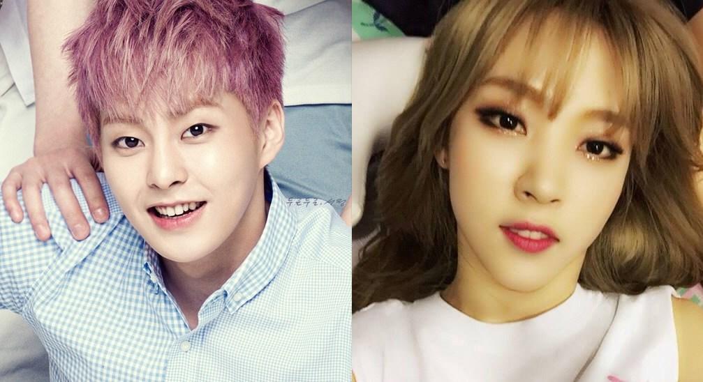 Sohee and xiumin weekly idol